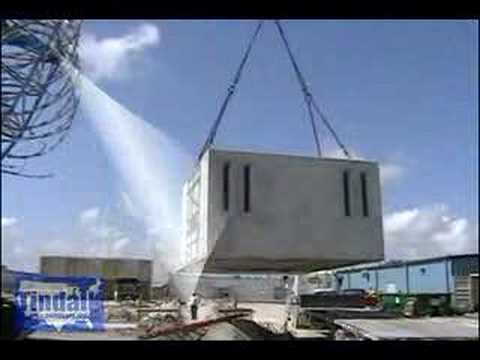 Precast Concrete Plant Manufactured Detention Cells Youtube