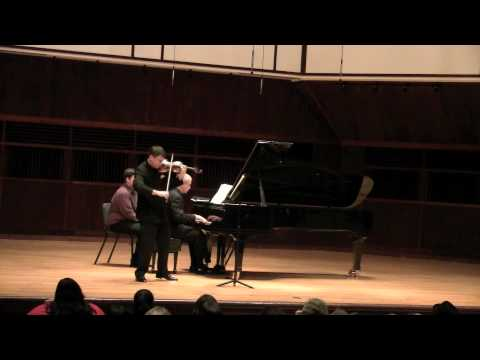 Brahms Allegro Sonata d Minor op. 108 mov 1 (Wolfgang David, violin)