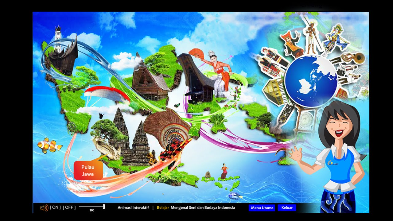 Animasi  Interaktif Mengenal Seni dan Budaya Indonesia