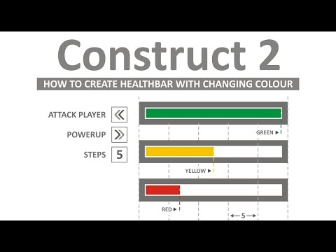 Create Health Bar with Color Changing Mode in Construct 2