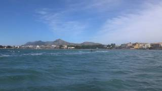 Tow kitesurfing Mallorca kitesurfing lessons
