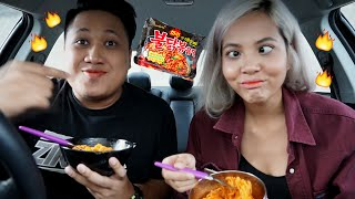 SPICY KOREAN NOODLE CHALLENGE (ft. Aisyah Aziz)