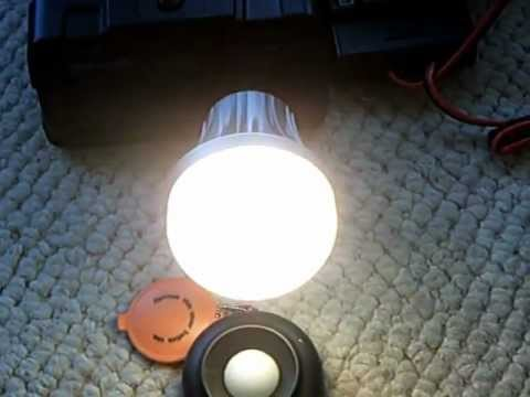Simple home solar energy system--- with 120v AC Light Bulb comparrision