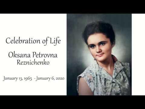 01.11.2020 Траурное служение посвященное памяти Оксаны Резниченко
