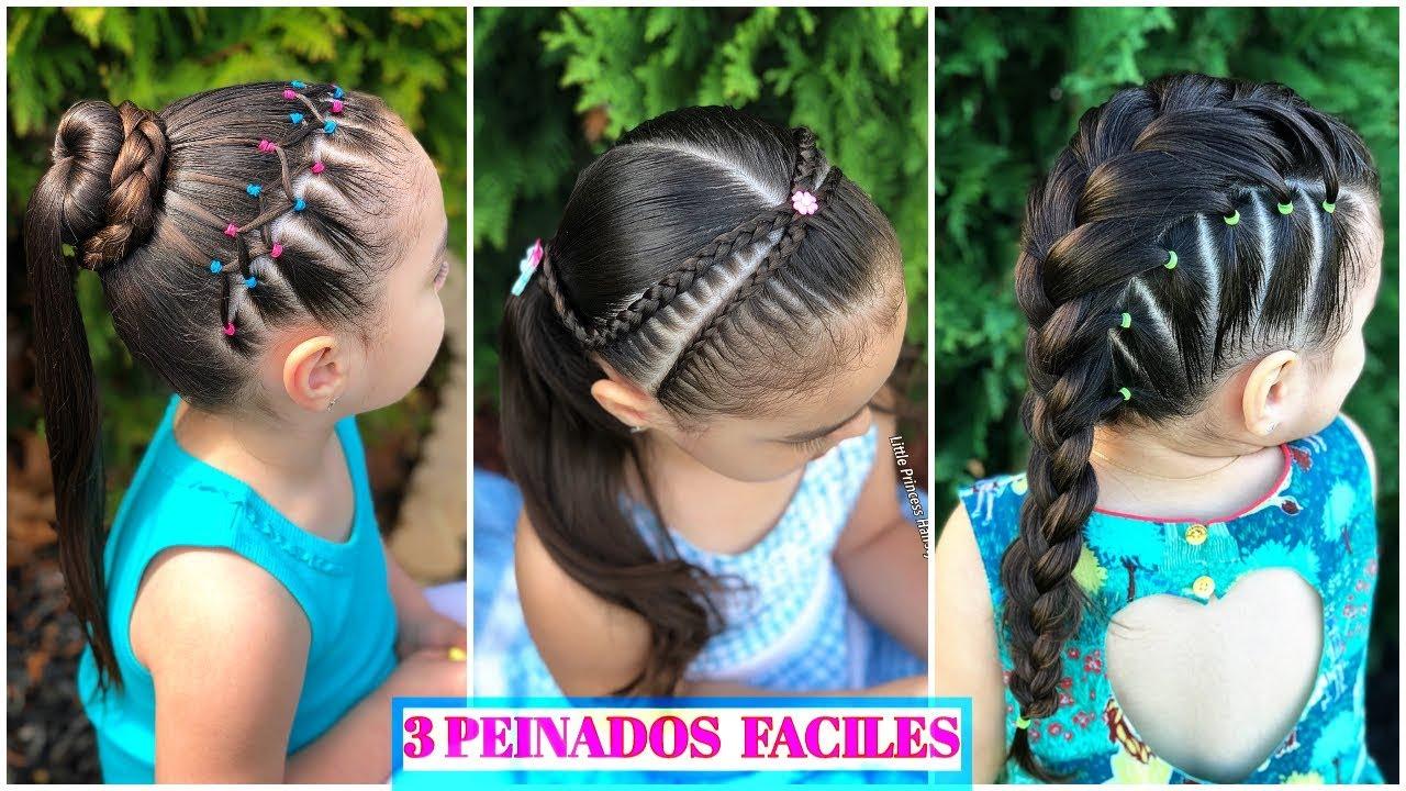 3 Peinados Faciles Y Bonitos Para Ni 209 As 💖 3 Easy Hairstyle