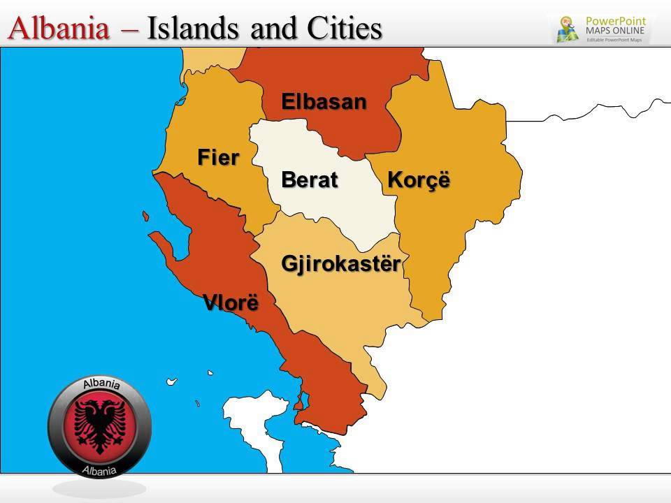 Albania Powerpoint Map Templates Youtube