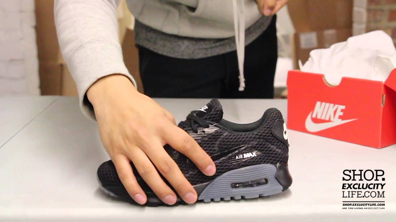 sports shoes f5963 2597c Nike Women s Air Max 90 Ultra BR Black - Dark Grey Video at Exclucity