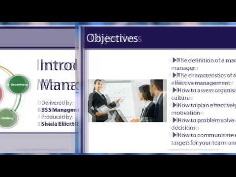 Online Training - Business Management Course Online- Introduction To Management