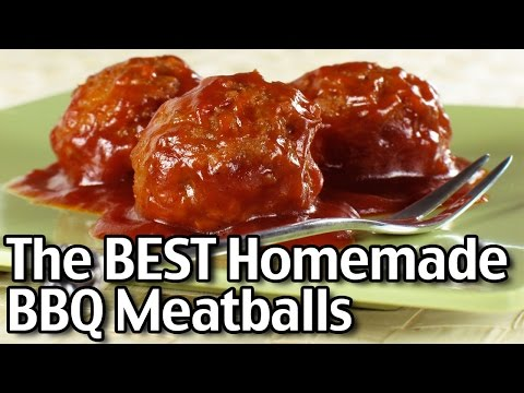 The BEST Homemade Barbecue Meatballs!