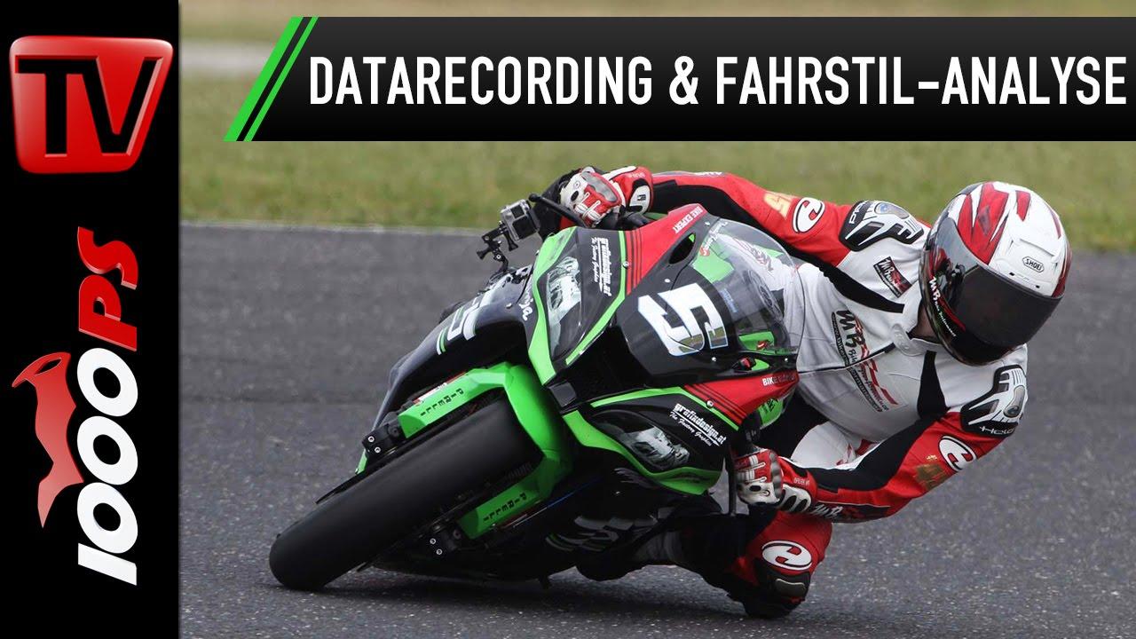 Kawasaki Ninja ZX-10R Datarecording & Fahrstilanalyse mit Martin Bauer