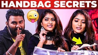 Serial Actress Ananya Handbag Secrets Revealed by Vj Ashiq | What's Inside the Handbag?