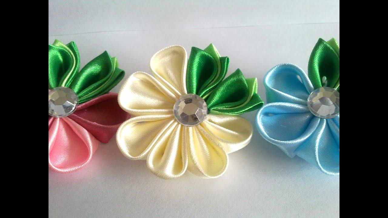 Цветы канзаши мастер класс видео