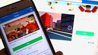 FIRST TIME PLAYING ROBLOX JAILBREAK ON MY PHONE!!