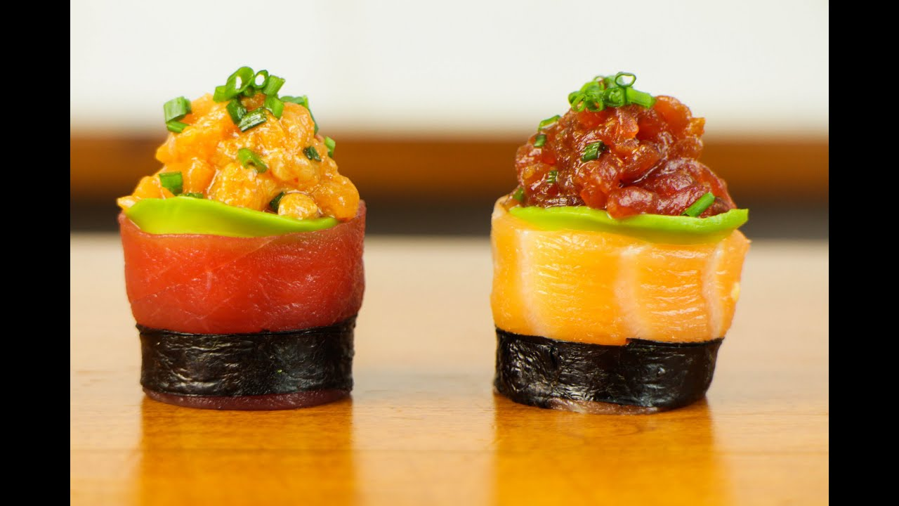 Spicy tuna salmon sushi roll beautiful food recipe youtube forumfinder Gallery