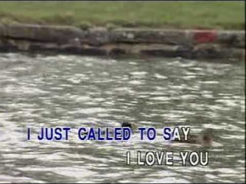 I Just Called To Say I Love You - Karaoke