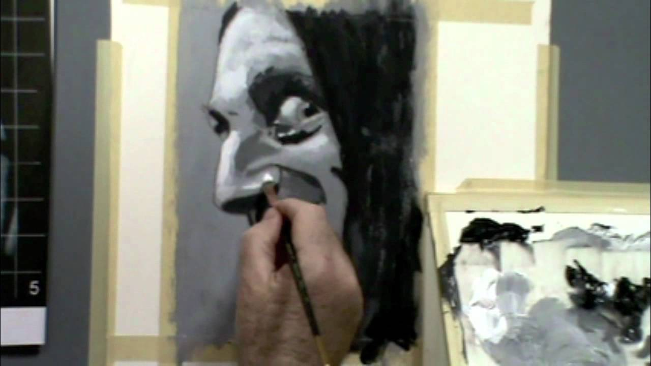 Larry kitchen painting black and white portrait youtube