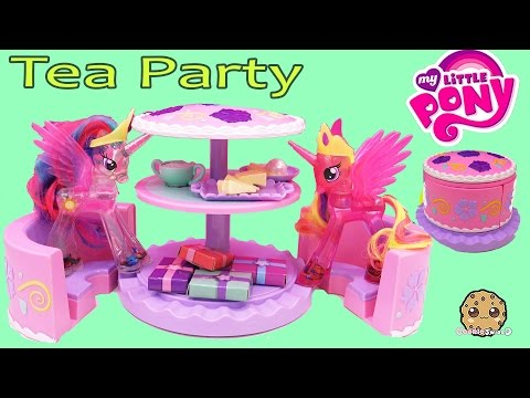 My Little Pony Princess Cadance & Celestia Have Cake Tea Party With Cupcakes Playset