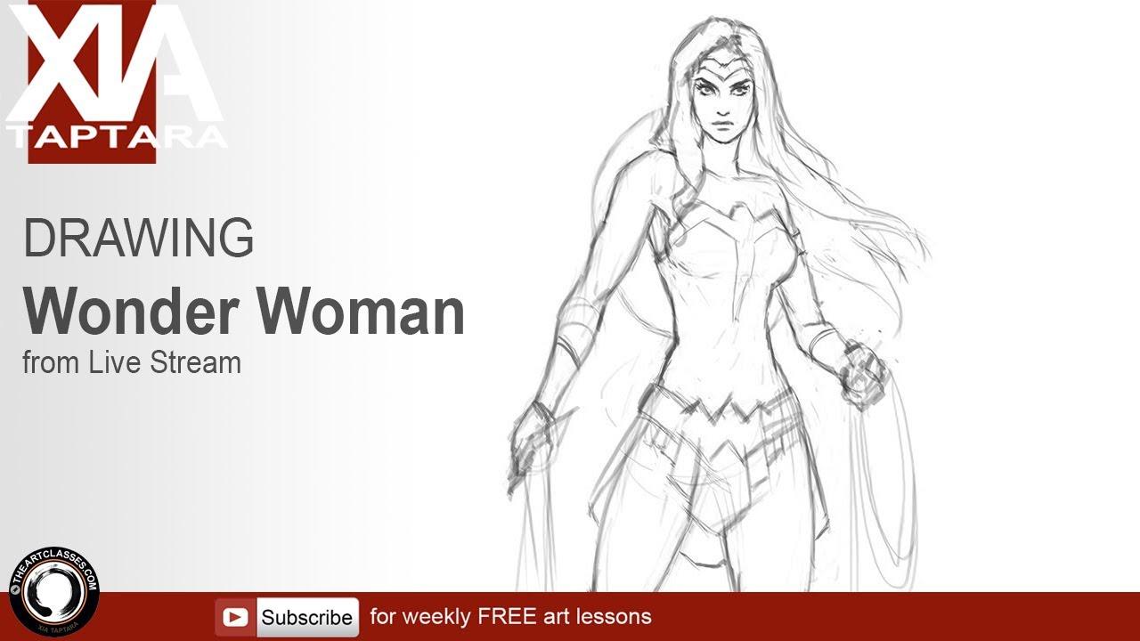 Full Body Wonder Woman Art Woman Drawing