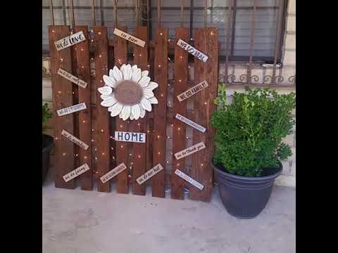IDEAS...  Inexpensive diy using a wood pallets and some items that you already have at home....