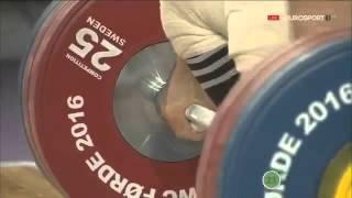 2016 European Weightlifting Championships, Men 85 kg   Тяжелая атлетика  Чемпионат Европы online vid(Украинец Александр Пелешенко завоевал