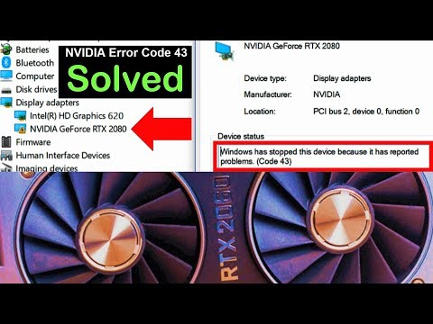 Fix: Windows encountered a problem during Graphics Driver installation | NVIDIA Error Code 43
