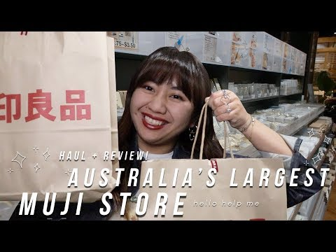 Going Crazy In AUSTRALIA'S LARGEST MUJI STORE - Yet Another Stationery Haul