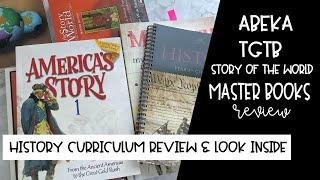Homeschool History Curriculum Comparison | Abeka, Story of the World, TGTB, Master Books