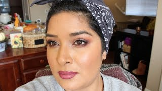 Shop My Stash GRWM Champaigne and Red tones Eye Look