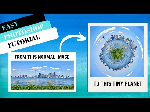How to make a normal image to a TINY PLANET | Photoshop Tutorial thumbnail