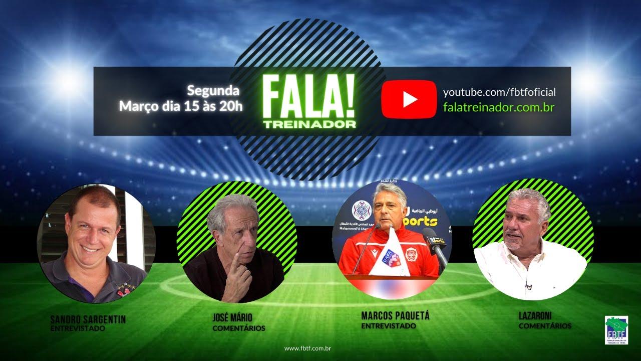 Marcos Paquetá e Sandro Sargentim no FALA TREINADOR