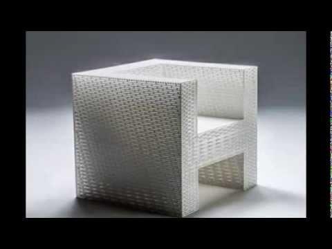 Stuhl Designer Möbel Detail weiße Farbe