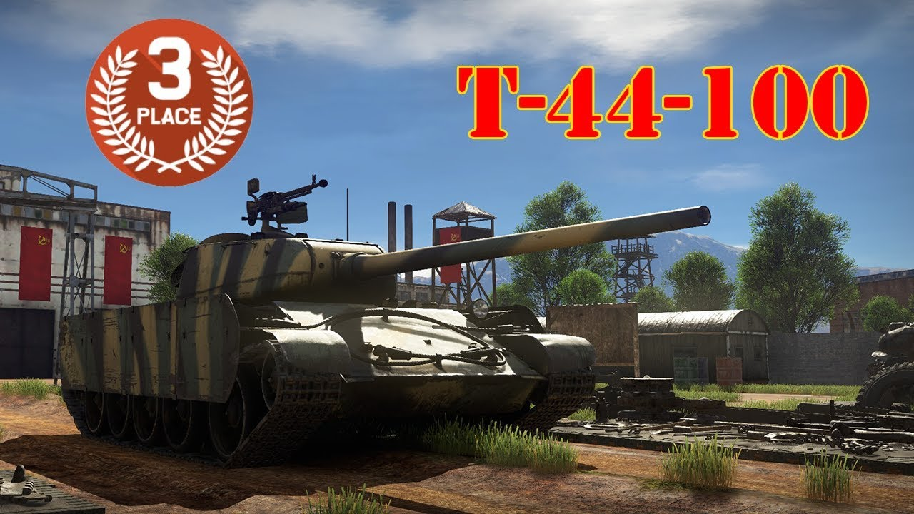 Third Place in Battle Royale - T-44-100 - War Thunder Battle Royale Gameplay - YouTube