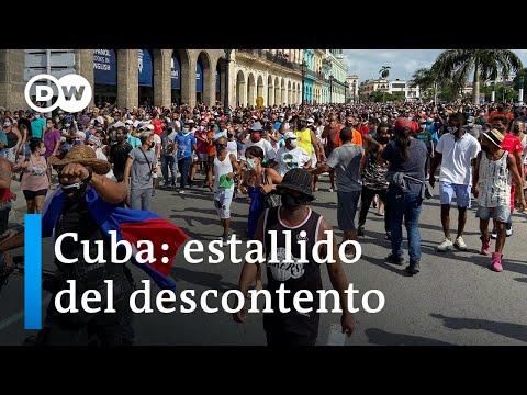 Protestas inéditas en Cuba.