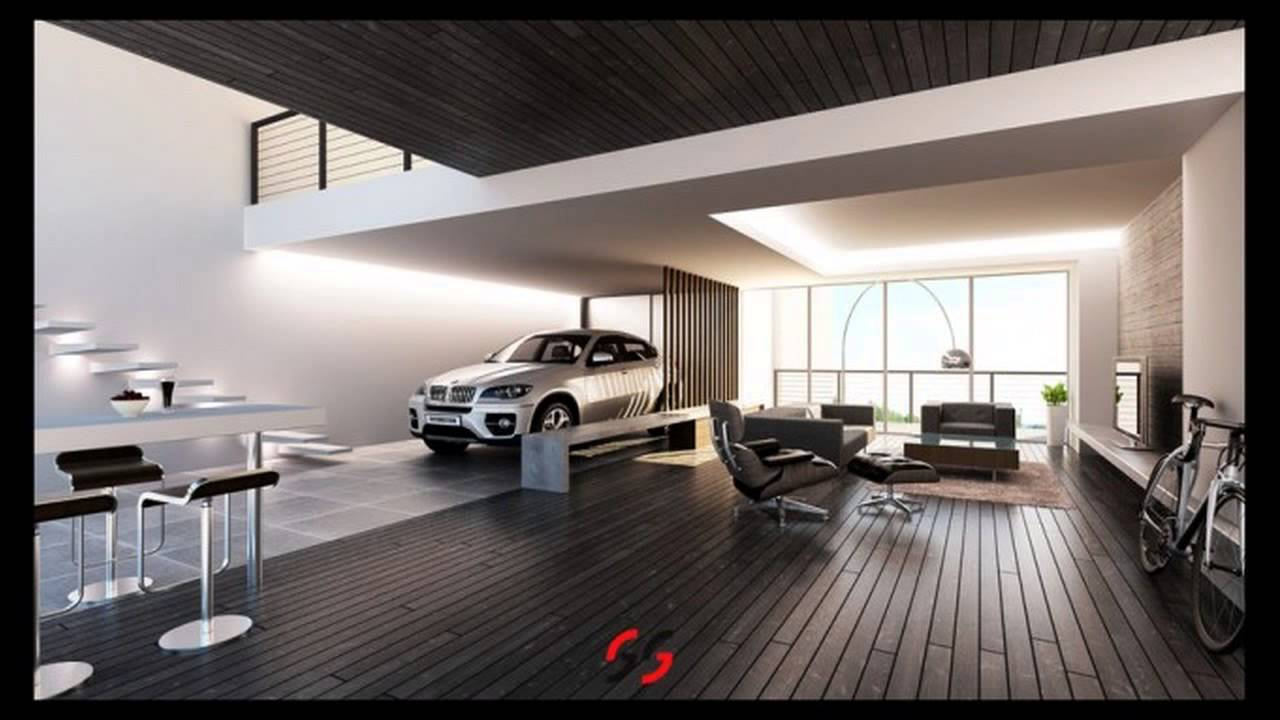 Garage living room youtube for Garage designs with living space