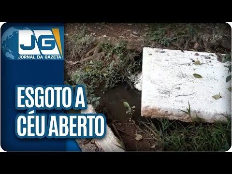 Esgoto a céu aberto incomoda moradores de São Bernardo do Campo