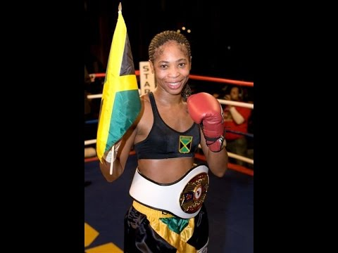 Alicia 'Slick' Ashley (Jamaican 1st female Boxing World Champion) Her First WBC title shoot!!