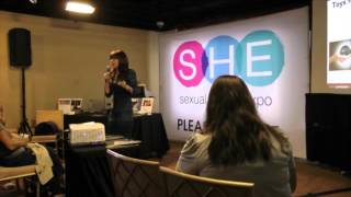 Dr  Ava Cadell @ SHE NYC Talking About Hot Octopuss