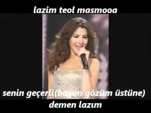 Nancy Ajram Ok Arapça Türkçe Altyazılı Turkish Subtitle