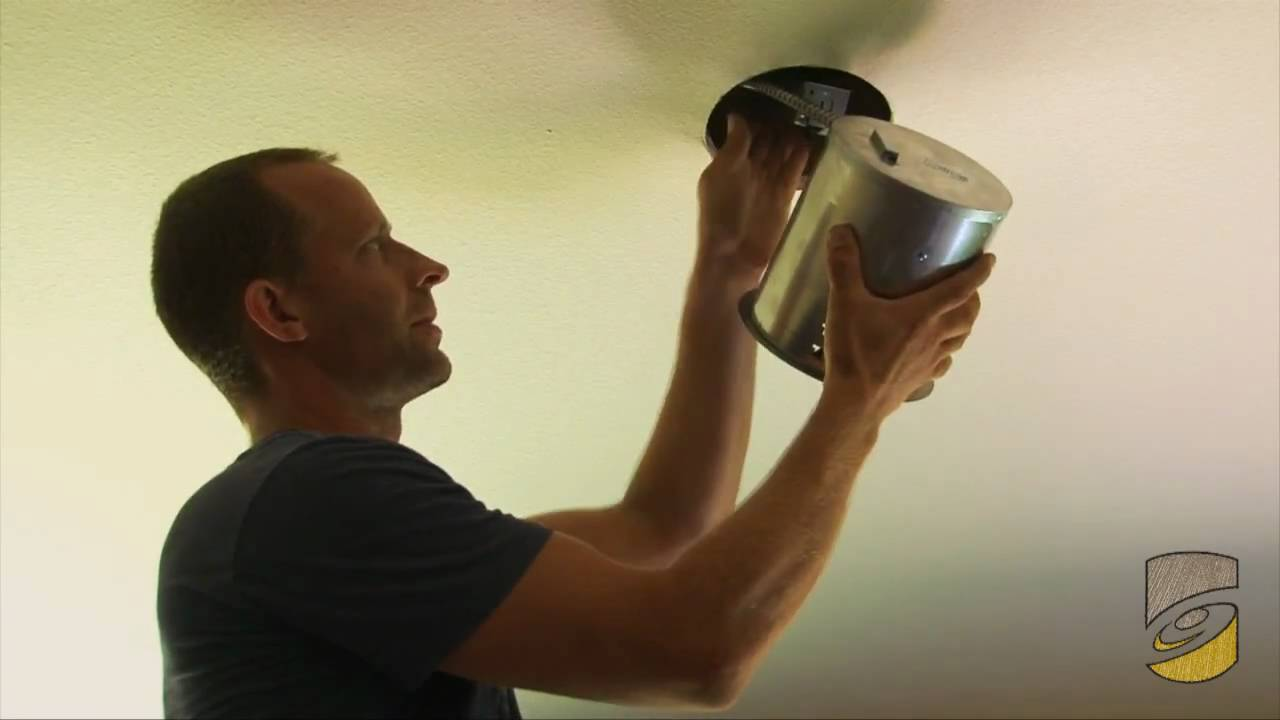 How To Install A Can Light Youtube Wiring Fixture Video