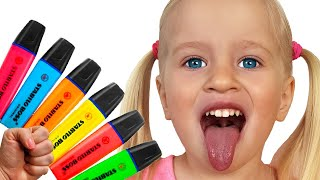 Pretends to play with his Magic Pen - Preschool toddler learn color | 동요와 아이 노래 | 어린이 교육