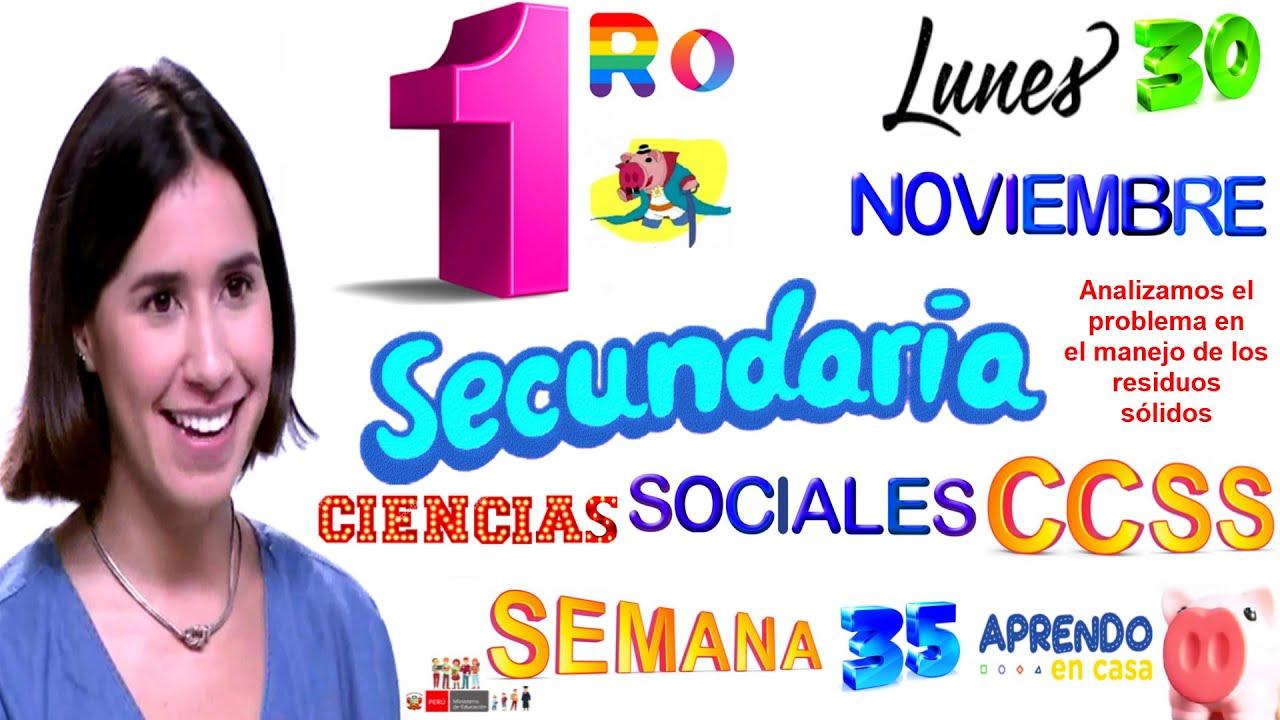 APRENDO EN CASA SECUNDARIA 1 HOY LUNES 30 DE NOVIEMBRE CIENCIAS SOCIALES SEMANA 35 1RO PRIMER GRADO - download from YouTube for free