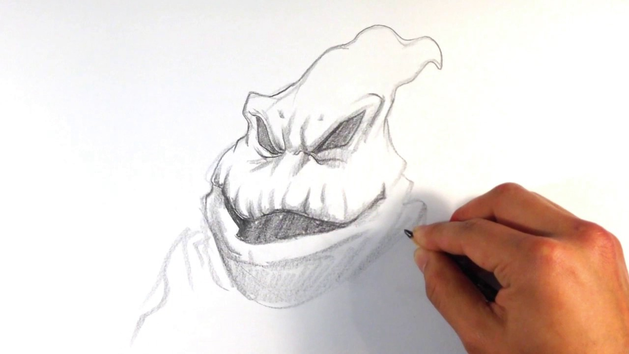 Line Drawing Xmas : How to draw oogie boogie from nightmare before xmas christmas