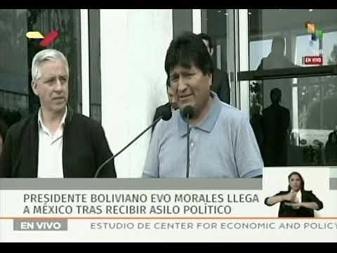 Evo Morales llega a México y da declaraciones tras el golpe de Estado