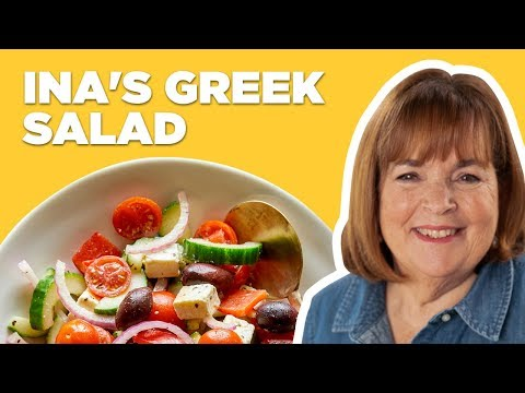 Barefoot Contessa Makes A Greek Salad   Food Network