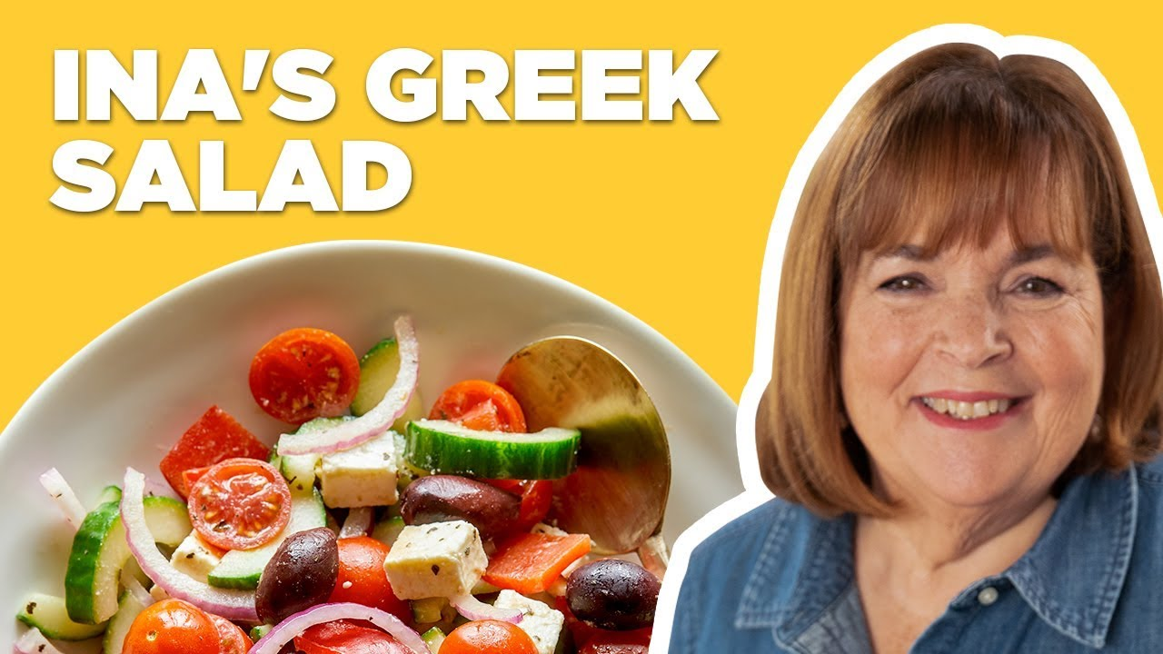 Barefoot Contessa Makes a Greek Salad | Food Network