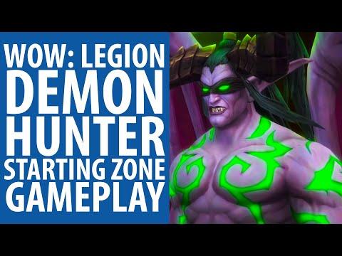 WoW: Legion   Demon Hunter starting zone gameplay