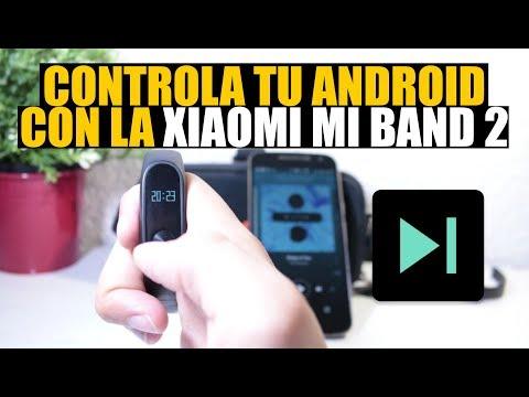 Controlar Android desde Xiaomi Mi Band 2: Pausar, pasar y subir/ bajar volumen de canciones