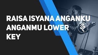 Raisa X Isyana Sarasvati - Anganku Anganmu Piano Karaoke Instrumental / Lower Key