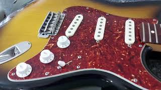 Fender strat, new Yosemite pickups installed.
