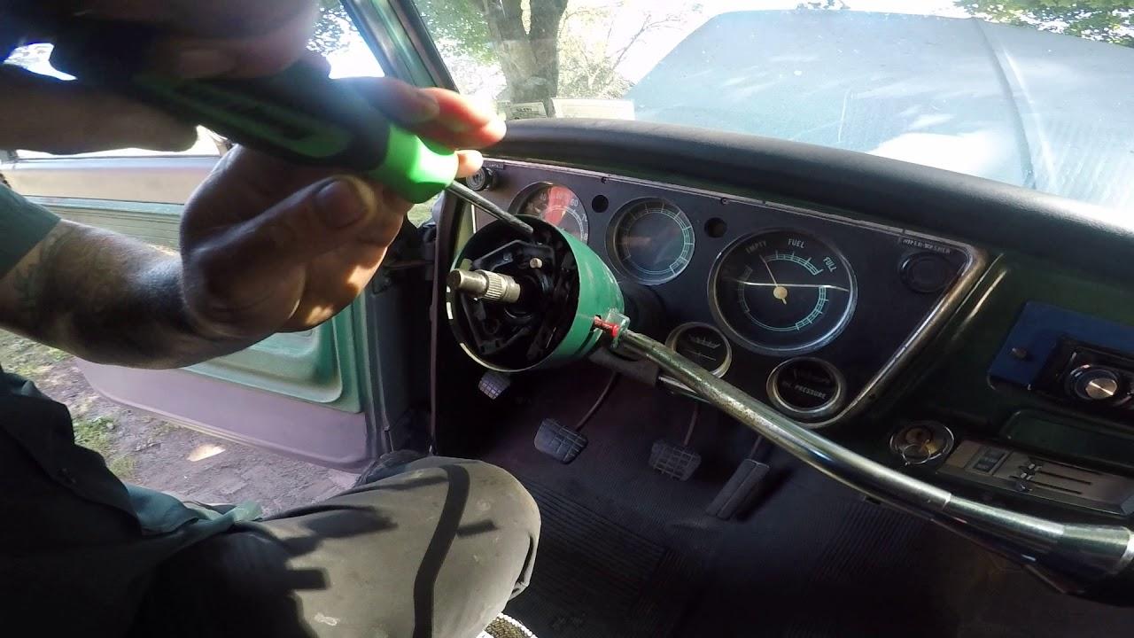 1972 Chevy Steering Column Diagram Schematics 1967 C10 Wiring Schematic C 20 Disassembly Pt 1 Youtube 67 Chevelle